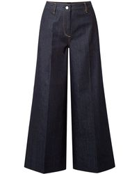 Elizabeth and James Ace Cropped High-rise Wide-leg Jeans - Blue