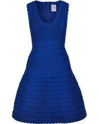 Hervé Léger - Jules Scalloped Bandage Mini Dress - Lyst