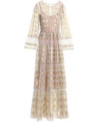 Alberta Ferretti - Metallic Lace Gown - Lyst