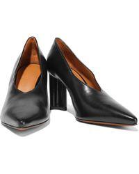 Robert Clergerie Kathleen Leather Pumps Black