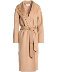 Claudie Pierlot - Belted Wool-felt Coat - Lyst