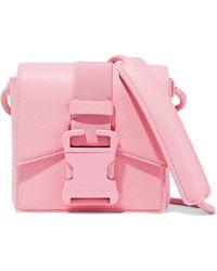 Christopher Kane - Mini Buckled Textured-leather Shoulder Bag Baby Pink - Lyst