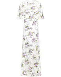Les Rêveries Les Rêveries Gathered Silk Crepe De Chine Maxi Dress White