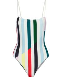 Solid & Striped - The Chelsea Striped Swimsuit Sky Blue - Lyst