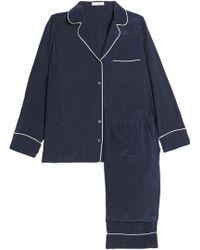 Equipment Avery Silk Pyjama Set - Blue