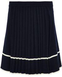 Chinti & Parker - Pleated Intarsia Wool Skirt - Lyst