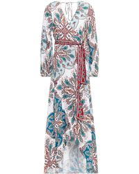Jets by Jessika Allen Reverie Printed Voile Maxi Wrap Dress - White