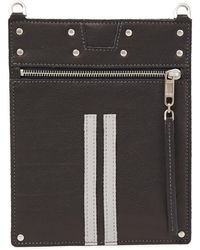 Rick Owens Studded Textured-leather Pouch Black