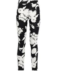 Ganni Alameda Floral-print Stretch-jersey Leggings Black