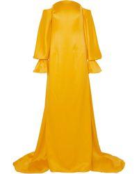 Carolina Herrera Off-the-shoulder Satin Gown - Yellow