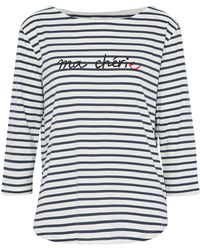 Chinti & Parker | Striped Printed Cotton-jersey Top | Lyst
