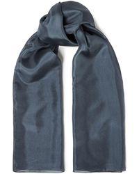 American Vintage Washed-silk Scarf - Blue