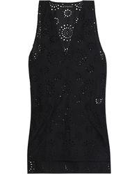 ViX Broderie Anglaise Cotton Mini Dress Black