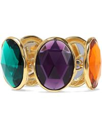 Ben-Amun - 24-karat Gold-plated Crystal Bracelet - Lyst