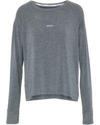 DKNY - Printed Stretch Modal-jersey Pajama Top - Lyst