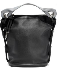 Acne Studios - Bertha Large Two-tone Textured-leather Bucket Bag - Lyst