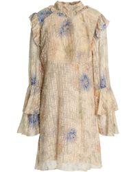 Anna Sui - Ruffle-trimmed Cotton And Silk-blend Fil Coupé Mini Dress - Lyst
