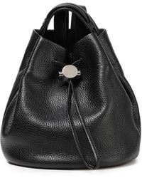 Kara Pebbled-leather Backpack Black