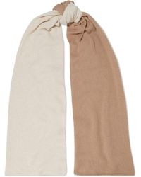 Iris & Ink Jane Two-tone Cashmere Scarf - Natural