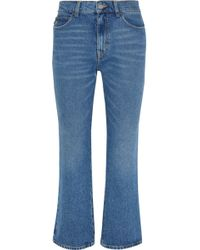 Attico | Rosa Cropped High-rise Flared Jeans | Lyst