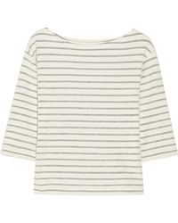 By Malene Birger - Tirans Striped Cotton-terry Top - Lyst