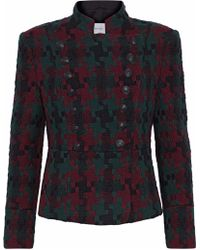 Balmain - Double-breasted Wool-blend Jacquard Jacket - Lyst
