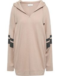 Brunello Cucinelli Bead-embellished Cashmere Hooded Sweater Neutral - Multicolor