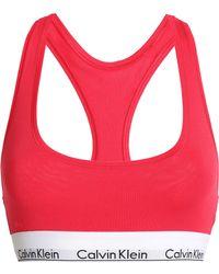 Calvin Klein - Cotton And Modal-blend Jersey Sports Bra - Lyst