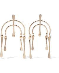DANNIJO Kamil Gold-plated Earrings Rose Gold - Metallic