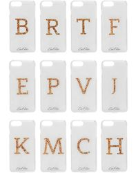 Edie Parker + Goo.ey Printed Plastic Iphone 6 And 7 Plus Case White