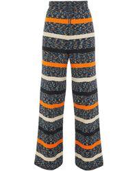 M Missoni - Ribbed Cotton-blend Wide-leg Pants - Lyst