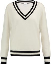 Madeleine Thompson - Hydra Striped Wool And Cashmere-blend Jumper - Lyst