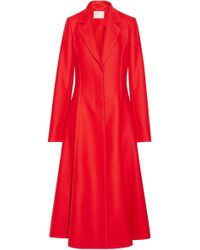 Jason Wu - Woman Long Coat Red - Lyst
