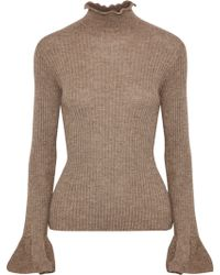 Acne Studios - Raine Ribbed Alpaca And Wool-blend Turtleneck Sweater - Lyst