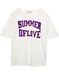 Sandro Cold-shoulder Printed Modal And Cotton-blend Jersey T-shirt White