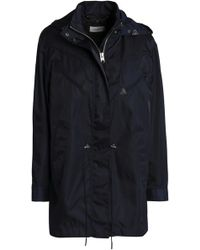 COACH - Leather-trimmed Shell Hooded Jacket - Lyst