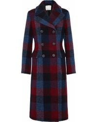 3.1 Phillip Lim - Double-breasted Checked Wool-blend Coat - Lyst