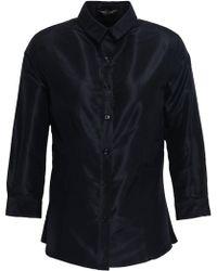 dc9b57de7291c Carolina Herrera - Woman Silk-taffeta Shirt Black - Lyst