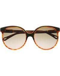66e82a20b99 Chloé Chloé Boxwood Cat-eye Acetate And Gold-tone Sunglasses in Gray ...