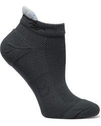 Reebok X Victoria Beckham Appliquéd Jacquard-knit Socks Dark Gray