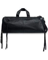 McQ - Woman Convertible Leather Weekend Bag Black - Lyst
