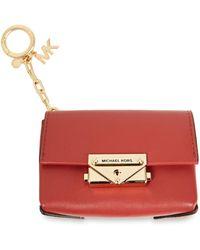 MICHAEL Michael Kors Leather Key Chain - Red