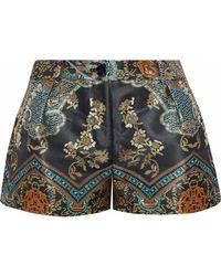 Camilla Dynasty Days Pleated Jacquard Shorts Multicolor - Green