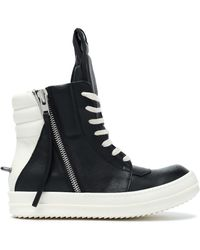 Rick Owens - Two-tone Leather Wedge High-top Trainers - Lyst