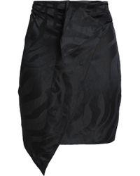 Carmen March - Woman Linen-blend Jacquard Mini Skirt Black - Lyst