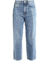 Maje - Faded High-rise Straight-leg Jeans Mid Denim - Lyst