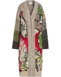 Stella Jean Embroidered Intarsia-knit Cardigan - Multicolour