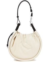 Proenza Schouler Canteen Small Leather Bucket Bag Ivory - White