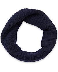Lanvin Ribbed Wool Snood - Blue