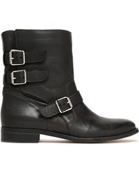 Belstaff - Buckle-detailed Leather Ankle Boots - Lyst